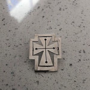 Sterling silver cross/Mexico
